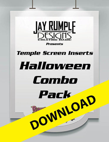 Super Screen Halloween Printable Inserts