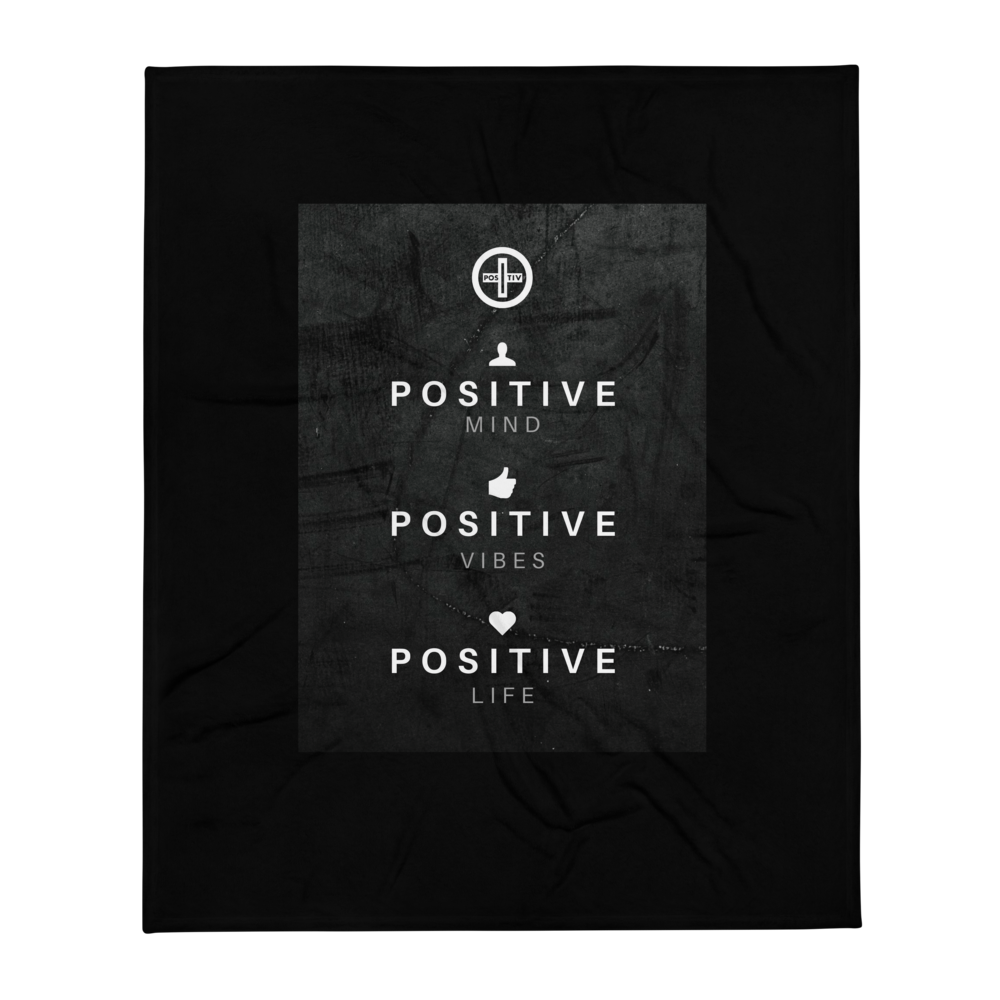 "iPositiv - ""Positive Life"" Throw Blanket"