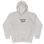 "iPositiv - ""Believe In Yourself"" Kids Hoodie"