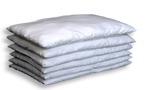 Comes with six dreamy soft inner pillow layers. We call them pancakes!  Stack just a few if you like lower height or stack all six for a fluffy  high pillow.