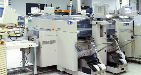 ATEN's Surface Mount Technology (SMT) equipment,