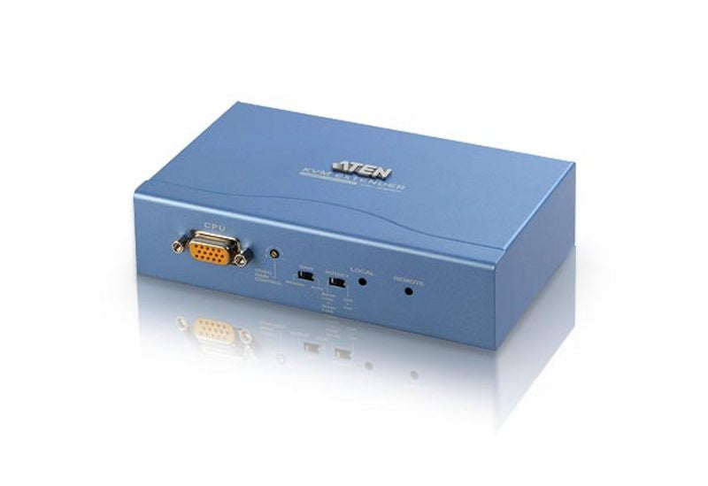 PS/2 VGA Cat 5 KVM Extender with Extra Remote PC (1024 x 768@300m) - CE252