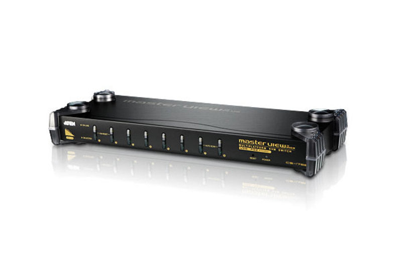 8-Port PS/2-USB VGA/Audio KVM Switch - CS1758