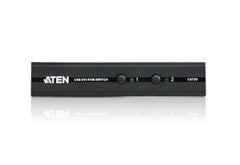 FINAL SALE: 2-Port USB DVI/Audio Slim KVM Switch - CS72D - Class B