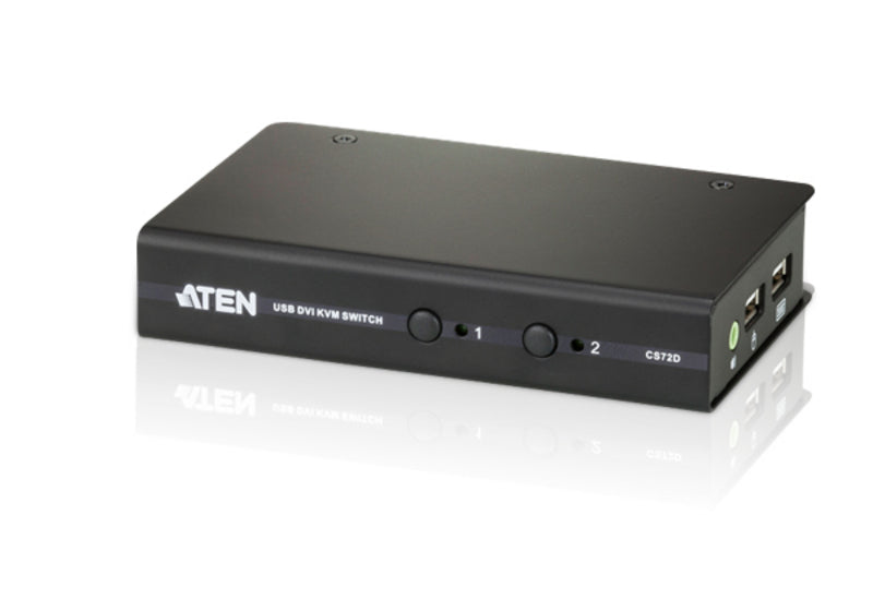 2-Port USB DVI/Audio Slim KVM Switch - CS72D