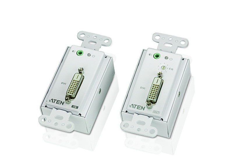 DVI/Audio Cat 5 Extender Wall Plate (US) (1920 x 1200@40m) - VE606