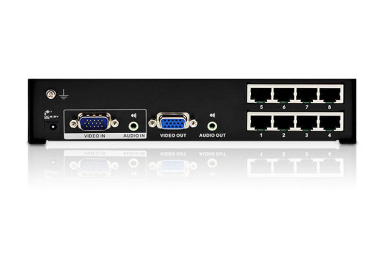 8-Port VGA/Audio Cat 5 Splitter - VS1208T