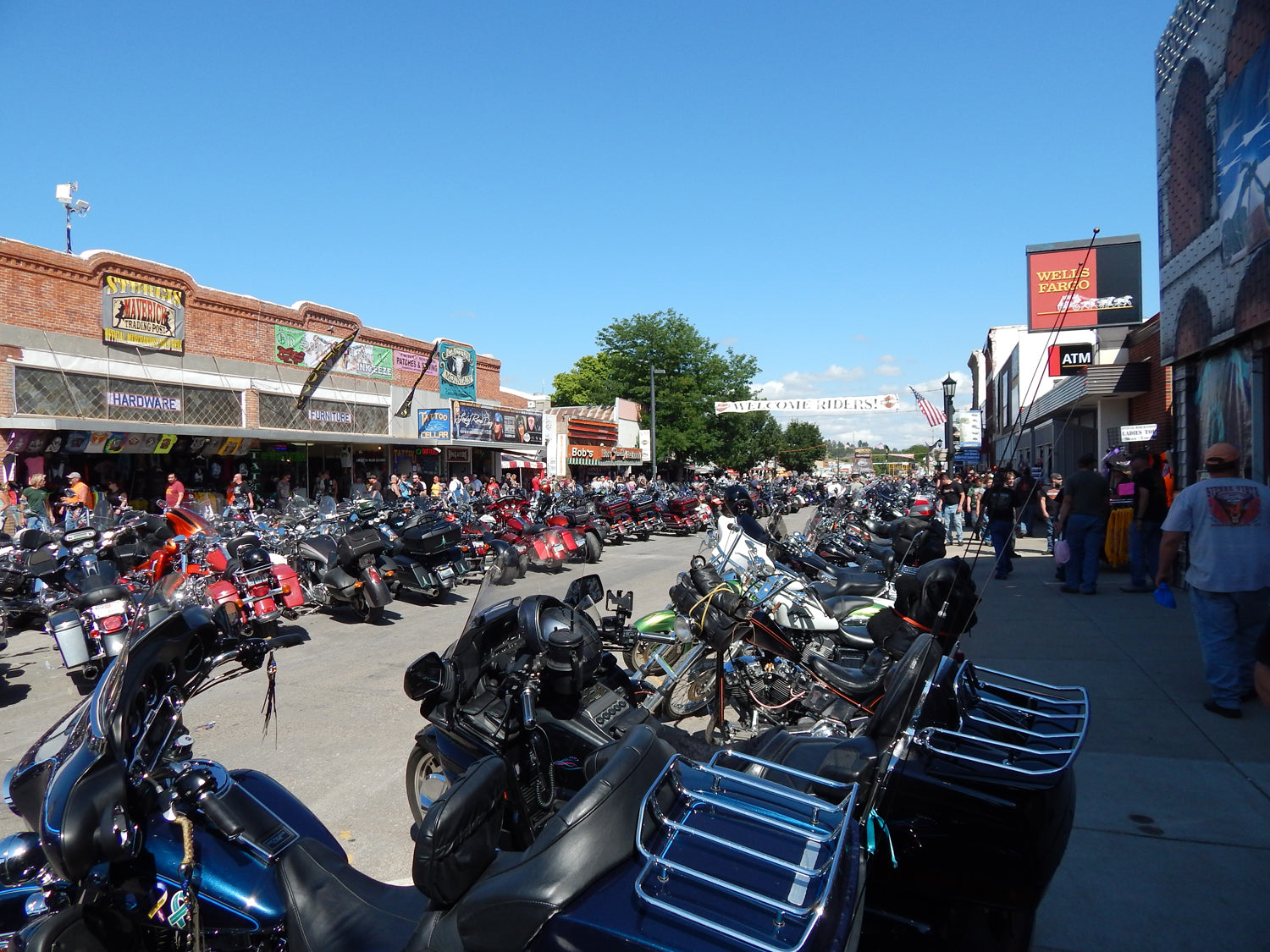 Sturgis Rally Downtown Photo