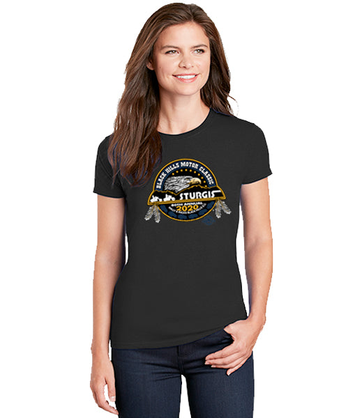 80th Sturgis Motorcycle Rally and Races 2020 Official Logo Womens T-Shirt