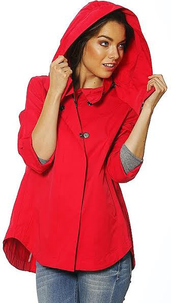 Savina Removable Hooded Jacket - Red [Gold Buttons; Not as Pictured w/ Black]