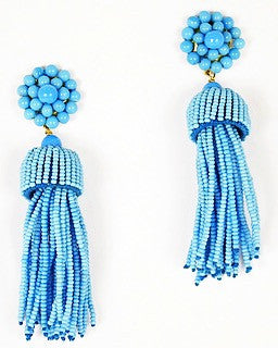 Tassel Earrings - Turquoise
