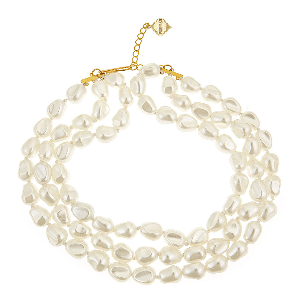 Pearl Nugget Necklace - Pearl