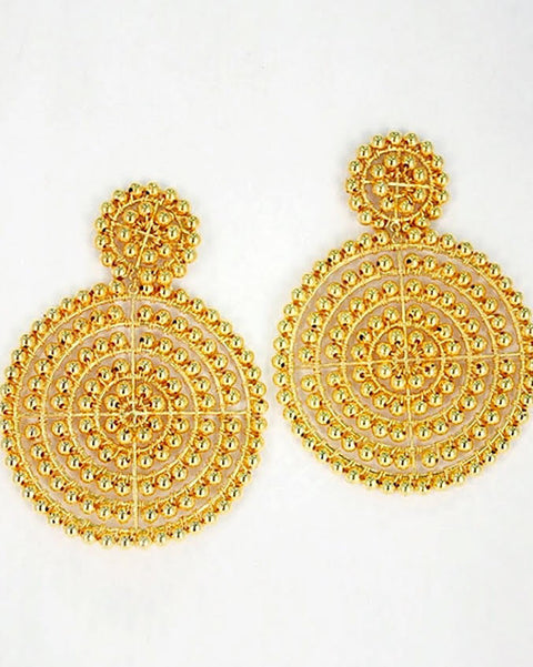 Disc Earrings - Gold