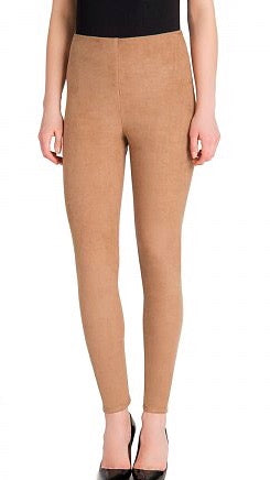 High Waist Suede Legging - Camel
