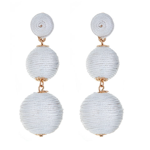 Wells Earrings - White
