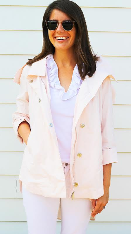 Savina Removable Hooded Jacket - Pink Blush
