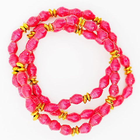Paper Bracelet Set of 3 - Berry Splash