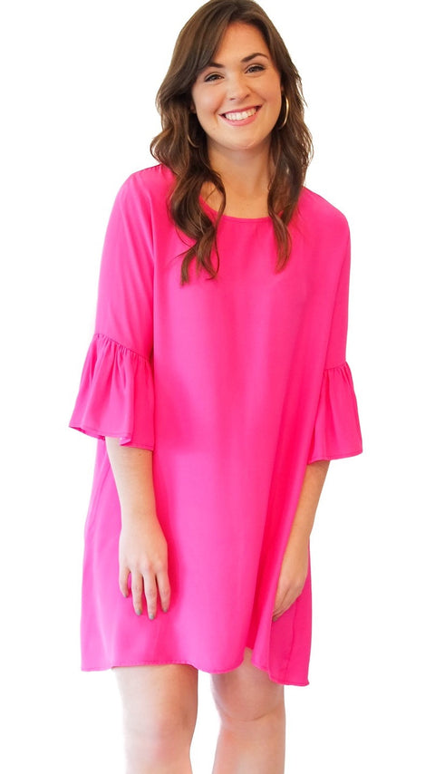 Ivy Dress - Hot Pink