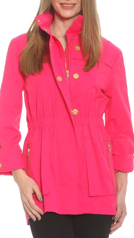 Tess Rain Jacket - Hot Pink