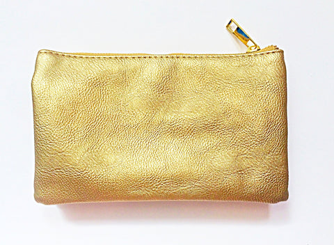 Faux Soft Leather Crossbody - Gold