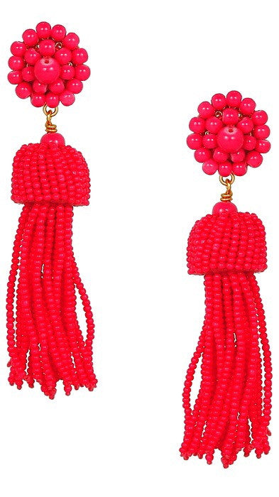 Tassel Earrings - Pink