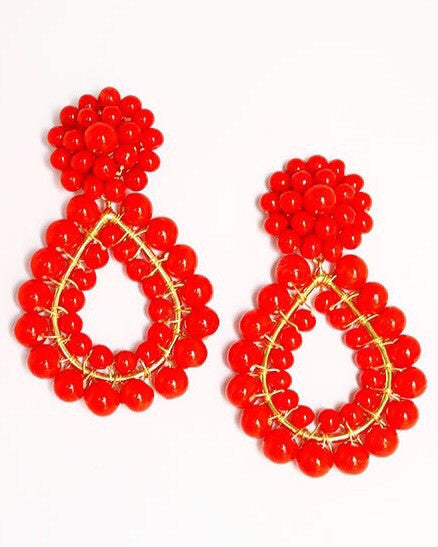 Margo Earring - Red