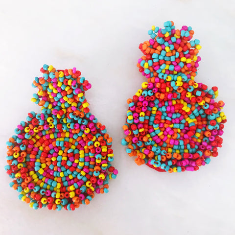Funfetti Beaded Earrings - Multi