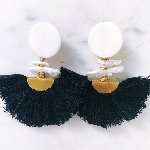 Ella Earrings - Black