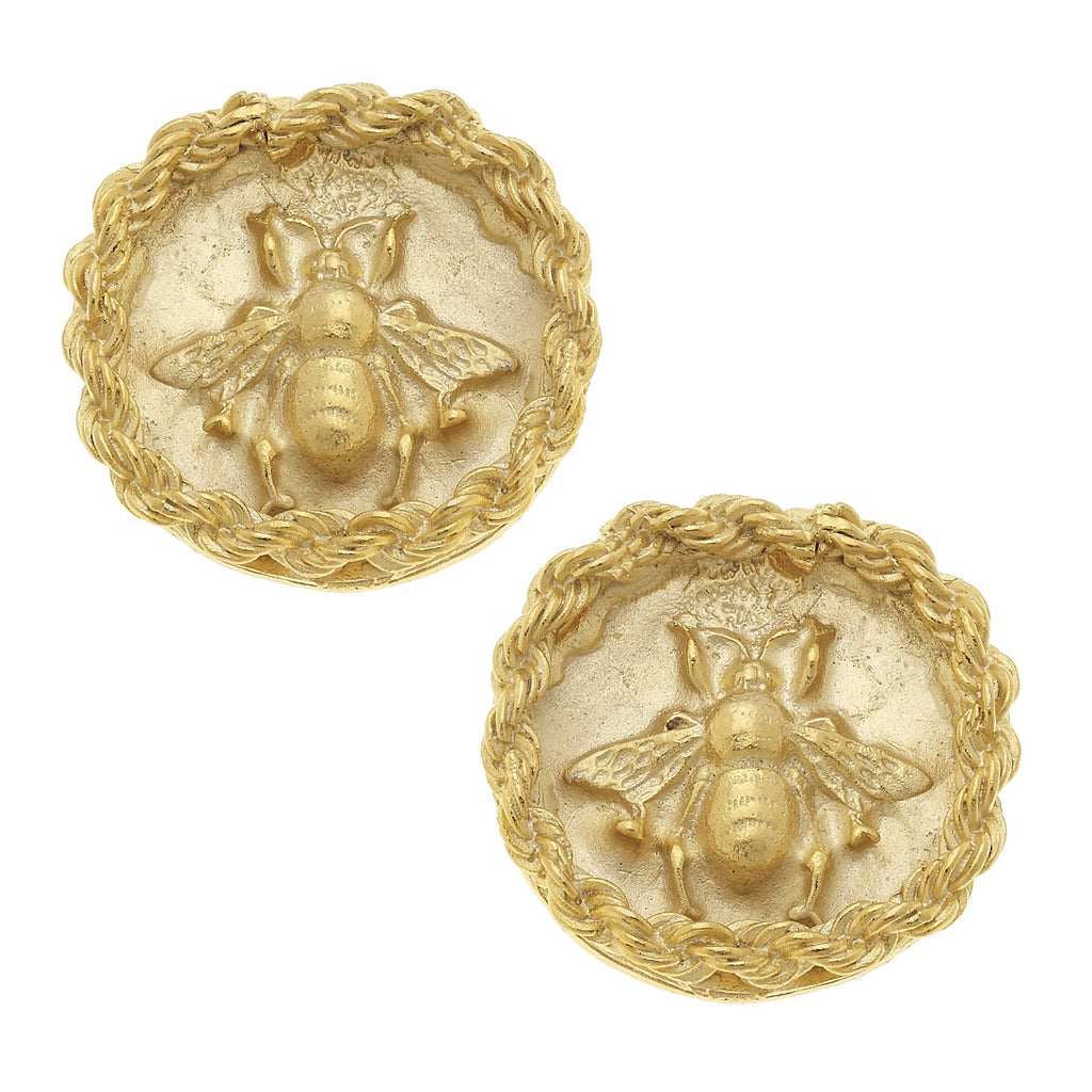 Bee Rope Studs - Gold