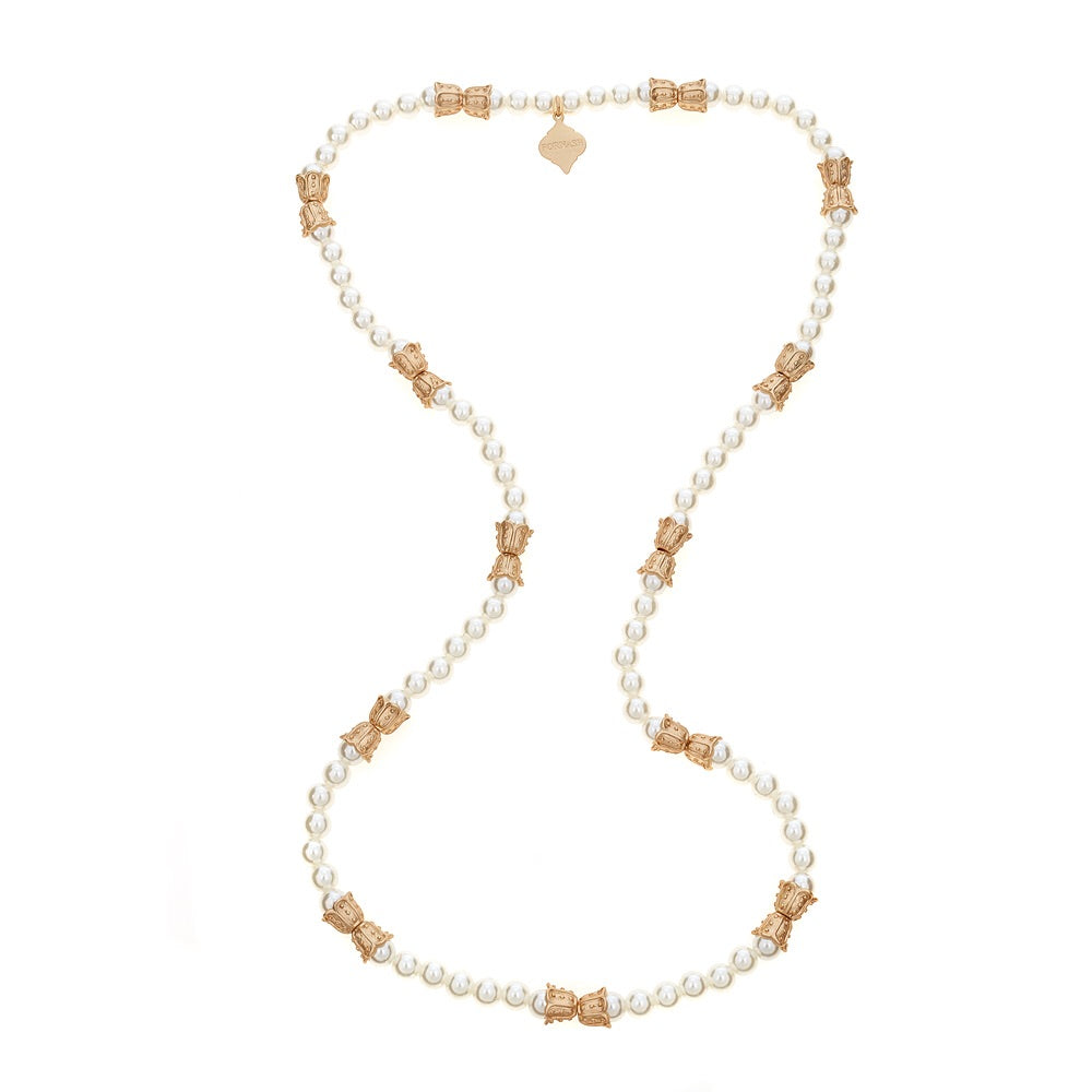Newberry Necklace - Gold + Pearl