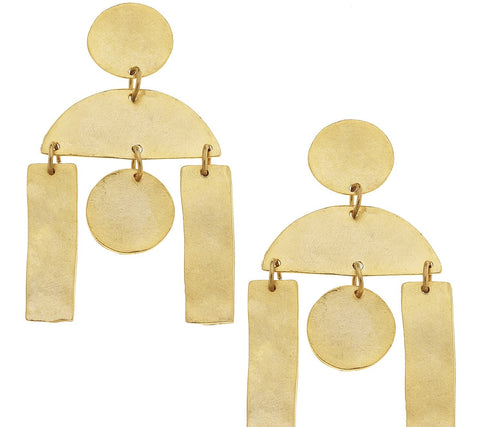 Geo Earrings - Gold