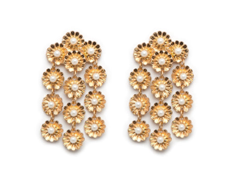 Peony Earrings - Gold