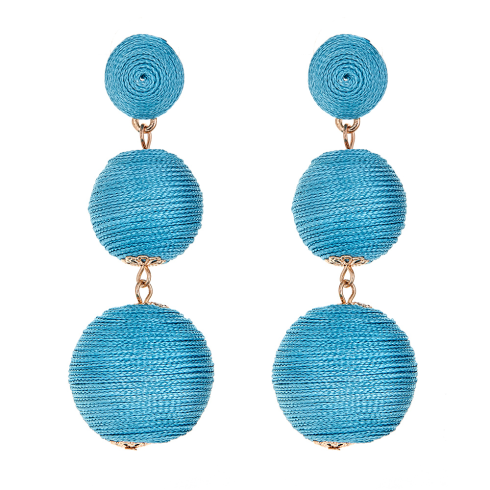 Wells Earrings - Blue