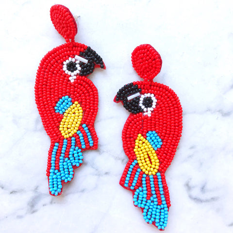 Polly Earrings - Red