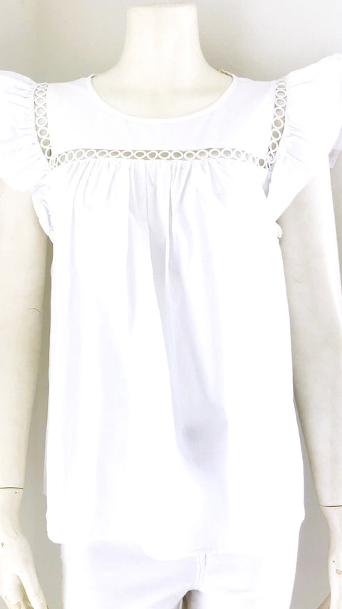 Posey Babydoll Top - White