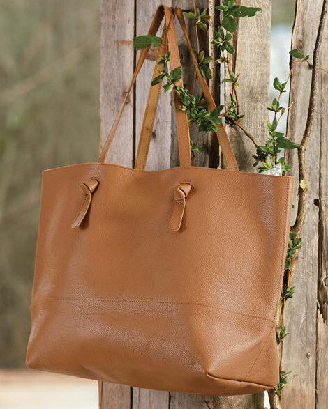 MILLER LEATHER TOTE - TAN