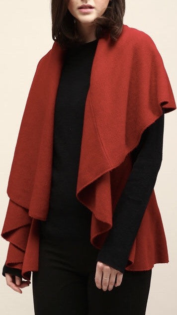 Classic Shawl Vest - Red