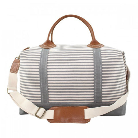 The Weekender - Grey Stripes
