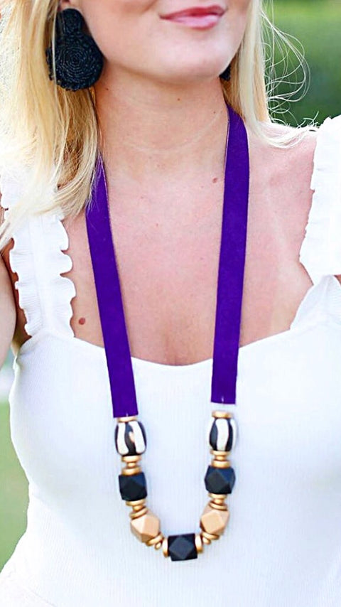 Gameday Necklace - Purple
