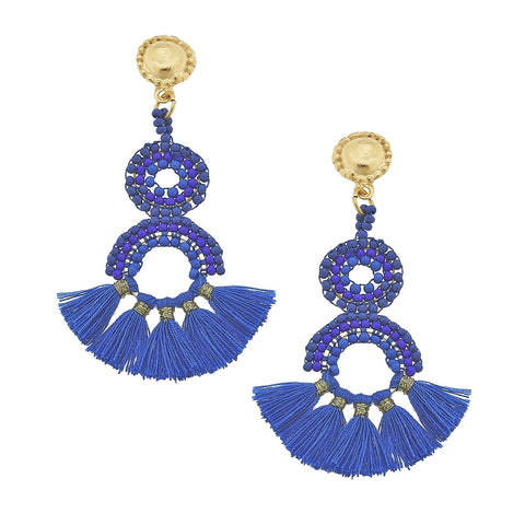 Beaded Drops - Blue