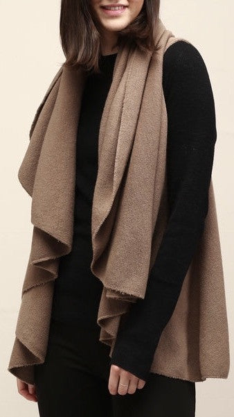 Classic Shawl Vest - Taupe