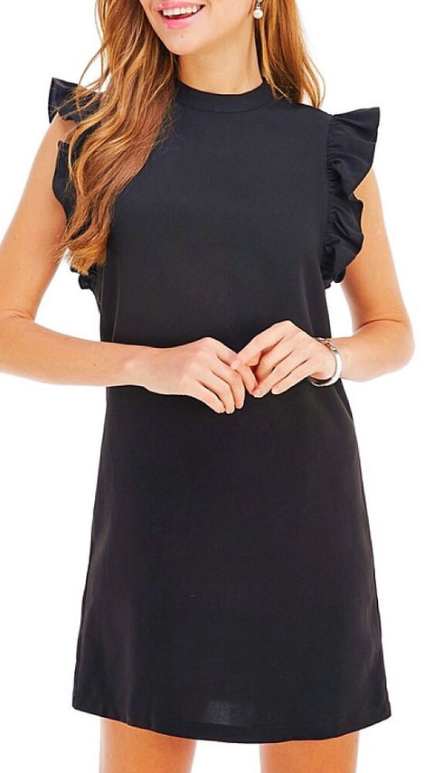 Lanier Ruffle Dress - Black