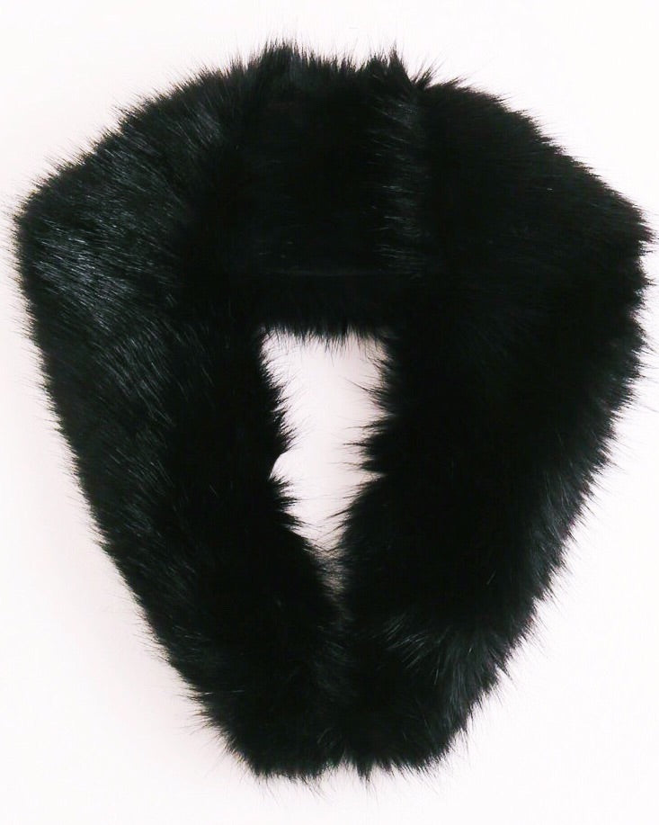 Faux Fur Stole - Black