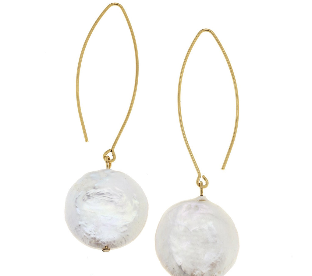 Freshwater Pearl Drops - Gold