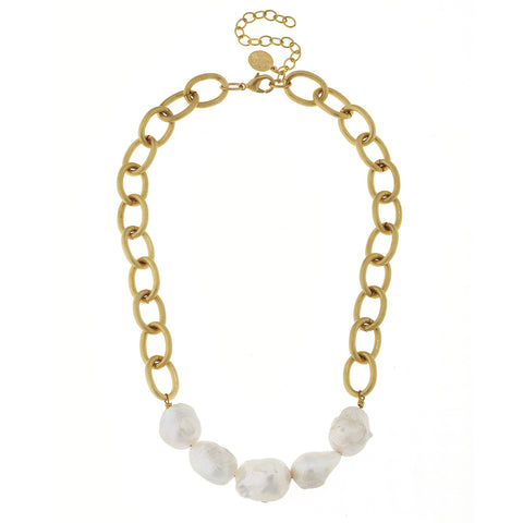 MeMe Pearl Necklace - Gold