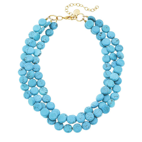 3 Strand Necklace - Turquoise