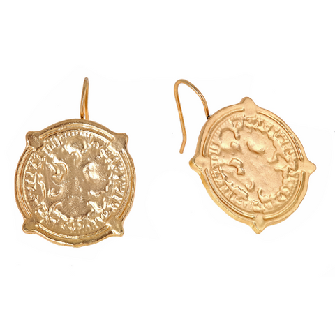 Coin Earrings - Gold