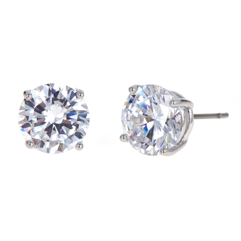 Kennedy Earrings - Silver CZ