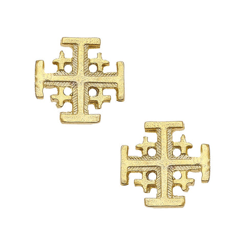 Small Cross Studs - Gold