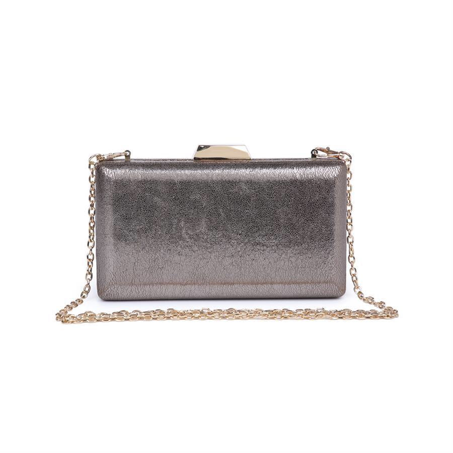 Flora Cocktail Clutch - Pewter